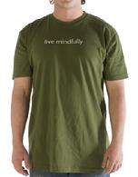 Live Mindfully T-shirt, Short Sleeve,  Organic Cotton, Tees for Change