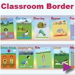 Addriya Classroom Border Yoga Chart ABC at playtimeyoga.com