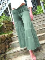 Tiered Gauchos, Assorted Colors, Organic Cotton/soy/spandex by Tdama.com