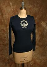 "Organic Cotton, ""Peaceful"", Navy"