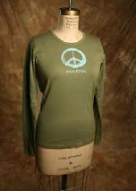 "Organic Cotton, ""Peaceful"", Olive"