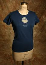 "Organic Cotton Tee, ""Peaceful Chick"""