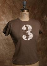 "Organic Cotton Tee, ""Preserve 3"", Light brown"
