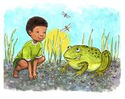 a frog pose from the book of ABCs of Yoga for Kids by Teresa Anne Power
