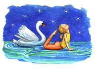 a swan pose from the book of ABCs of Yoga for Kids by Teresa Anne Power