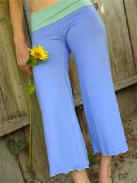 Capri stretch pants, Blue by Tdama