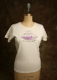 "Organic Cotton Tee, ""Lavender"", Natural"