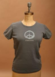 """Peaceful"", Short & Long sleeve, Cement, 100% Organic Cotton Clothing"