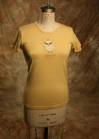"Organic Cotton Tee, ""Uncommon Chick"", Goldenrod"
