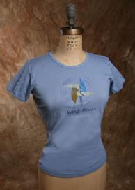 "Organic Cotton Tee, ""Wind Power"", Blue"