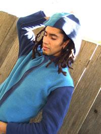 tdama Eco Fleece Hoodie Ligh Blue and Blue at playtimeyoga.com