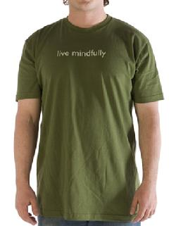 Organic Cotton Mens Tee, Live Mindfully