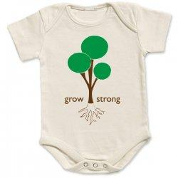 Grow Strong Organic Onsie for children from tees for change