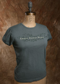 "Organic Cotton Tee, ""Conserve Fish"""