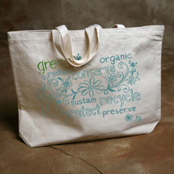 """Green Words"" Organic Cotton Tote"