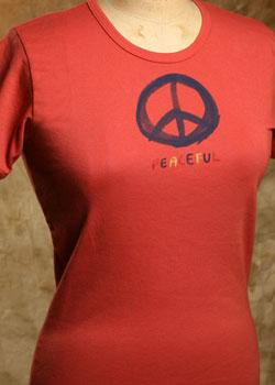 Organic Shirt Long Sleeve Peaceful on Red Clay