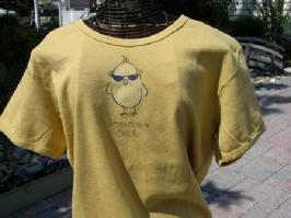 Play Time Yoga Sale, Uncommon Chick, Organic Tee, Golden Rod