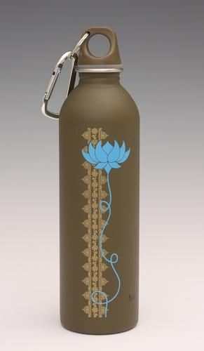 Lotus on chocolate - water bottle from EarthLust