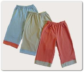 soft, durable, stretchy, and comfortable 100% certified organic cotton jersey kids yoga bottoms