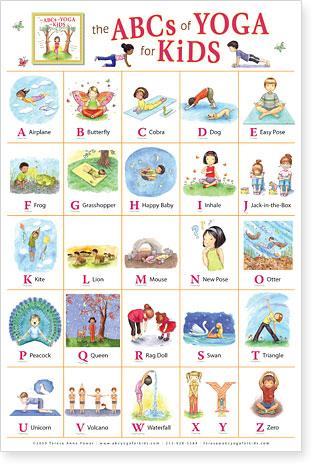 Teresa anne power the abc of yoga for kids poster
