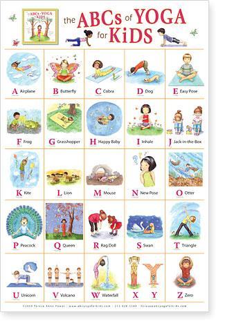 poster abcs of yoga for kidsteresa anne power