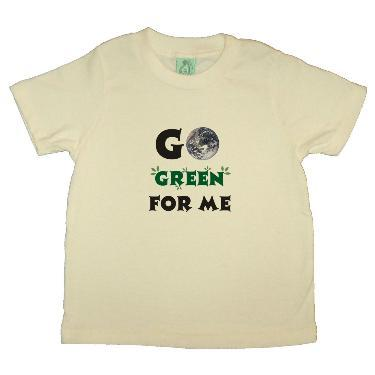 Go Green For Me eco shirt for children from yoga buddhiwear organics