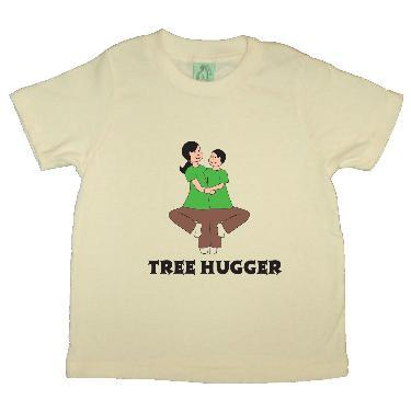 Tree Hugger eco shirt for children from buddhiwear organics