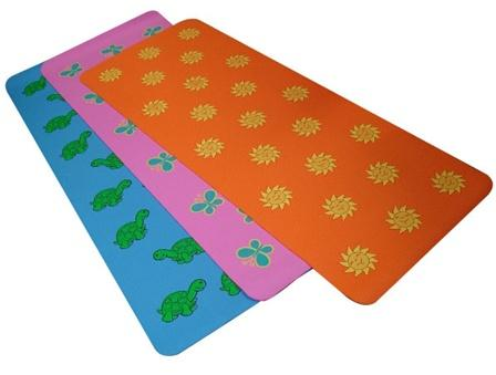 Butterly or Sun or Turtle Yoga Mat for Little Yogis and Kids of all ages