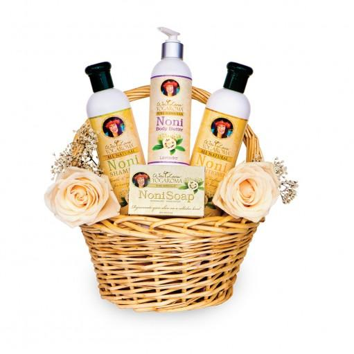 noni body care gift basket all natural